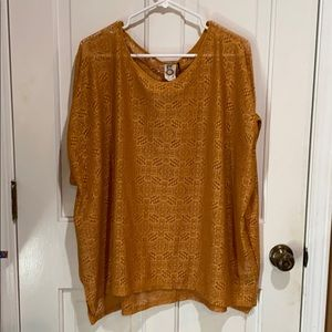 Anthropologie Gold Top